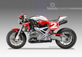BIMOTA BB-4 S Cafe Fighter Concept # 2 by obiboi