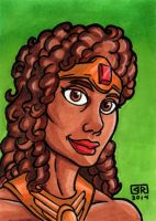 Diana The Acrobat Sketch Card by TheRigger