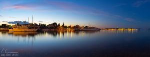 Zadar at dawn by ivancoric
