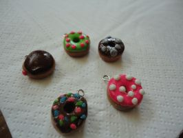 Mini Polymer Clay Donughts by DramaticDiva