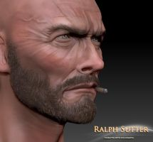 Clint 3D Model Color Test 8 by FoxHound1984