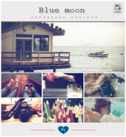 Blue moon - Photoshop PSD + ATN by friabrisa