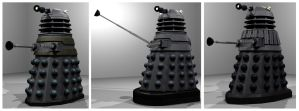 Blender Daleks WIP 2 by Librarian-bot