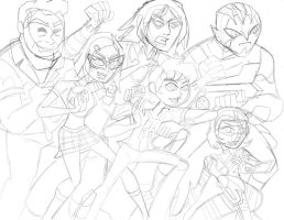 IT'S HERO TIME! BEN 10 OMNIVERSE (pencil sketch) by VectorMagnus2011