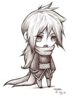 .:Izuna chibi:. pen version by Liedeke