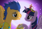 MLP: Flash Sentry x Twilight by benkomilk