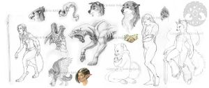 Sketch Dump April 2008 by Shadow-Wolf