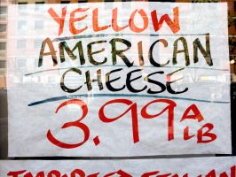 Yellow American Cheese 3.99 by pica-ae