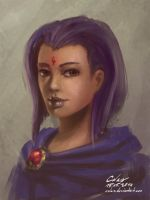 Raven Portrait by Celarx