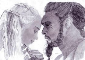 Daenerys and Khal Drogo by Di-Dy