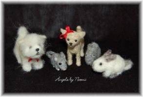 Needle Felted Pets - Critters by noe6
