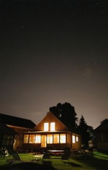 Bright Cottage under the Stars by Ph0Xy