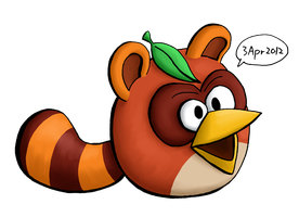 Tanuki Bird by RiverKpocc