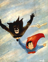 Flying Batman by Ombre-Lumineuse