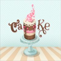 Create a Colorful Cake by Kluke
