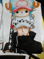 One Piece- Law and Chopper by Pandaroszeogon