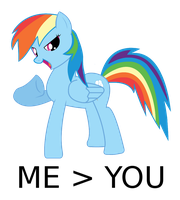 Rainbowdash is better than you by laricot