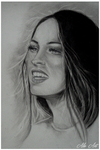 Megan Fox Dry Brush by ZaniAlessandra