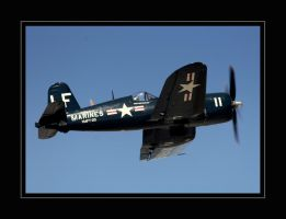 F4U-4 Corsair Flyby by OpticaLLightspeed