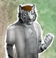 Davidtigerific -$20 bust commission- by RogueLiger