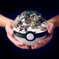 Bunnelby Winter Woodland - Poke Ball Terrarium