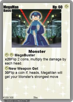 1st EVAR MEGAMAN TRADING CARD by qwertyqwert345
