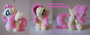 Fluttershy #8 (mini sized) by ManlyStitches