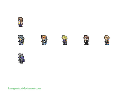 Dissidia 012 SNES sprites - WIP by misaera