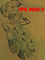 Bruce Campbell vs. EVIL DEAD II by HamletTheDetective