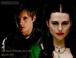 Morgana and Arthur - war by MagicalPictureMaker