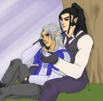 Xaldin and Xemnas by lerato
