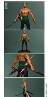 Zoro 3D finished by Jeannette11
