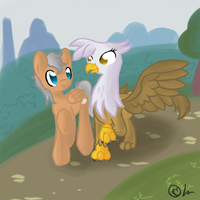 Commission: Giovanni and Gilda by lunaismostkawaii