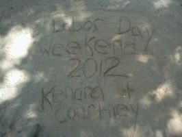 Camping -  Sand Writing by Spooneh21