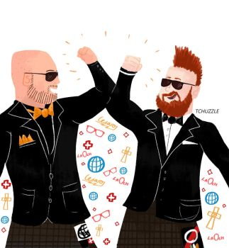 Sheamus and Cesaro by TheChuzzle