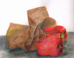 Peppers and Bags by BobbieLee