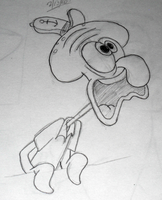 Squidward sketch by jessiestory