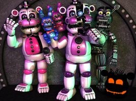 Funtime Freddy Gang by luizcrafted
