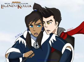 MaKorra Lover's Quarrel by justixoxo