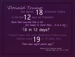 SNL quote on Trump and Obama by imprintedgoose