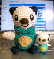 Oshawott Crochet Plush by First-Mate-Kate