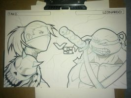 Taki vs Leonardo - Commission by exablitz