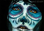 Skull Sister III ACEO by TempestErika