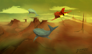 Sky Whales by CDKN