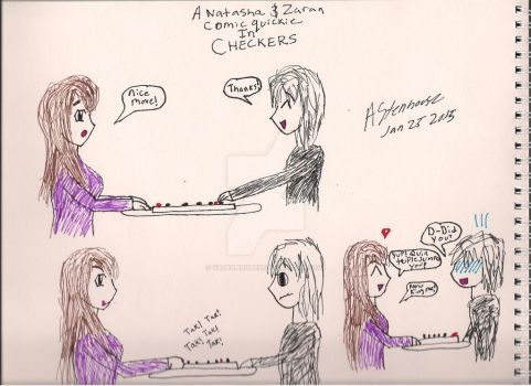 A Natasha and Zaran Comic Quickie In Checkers by vaderandrew