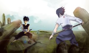 SASUKE VS HIEI by ivsonwild