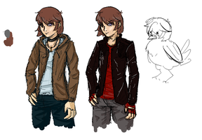 Unnamed Dating Sim: Protag Concepts by AkariMMS