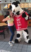 Me and the Chick-Fil-A Cow by Linny235