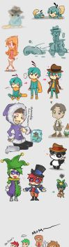 Phineas and Ferb Doodles by Mikoto-Tsuki