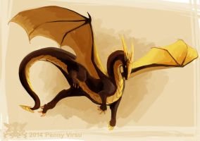 Gilded wings by Penny-Dragon
